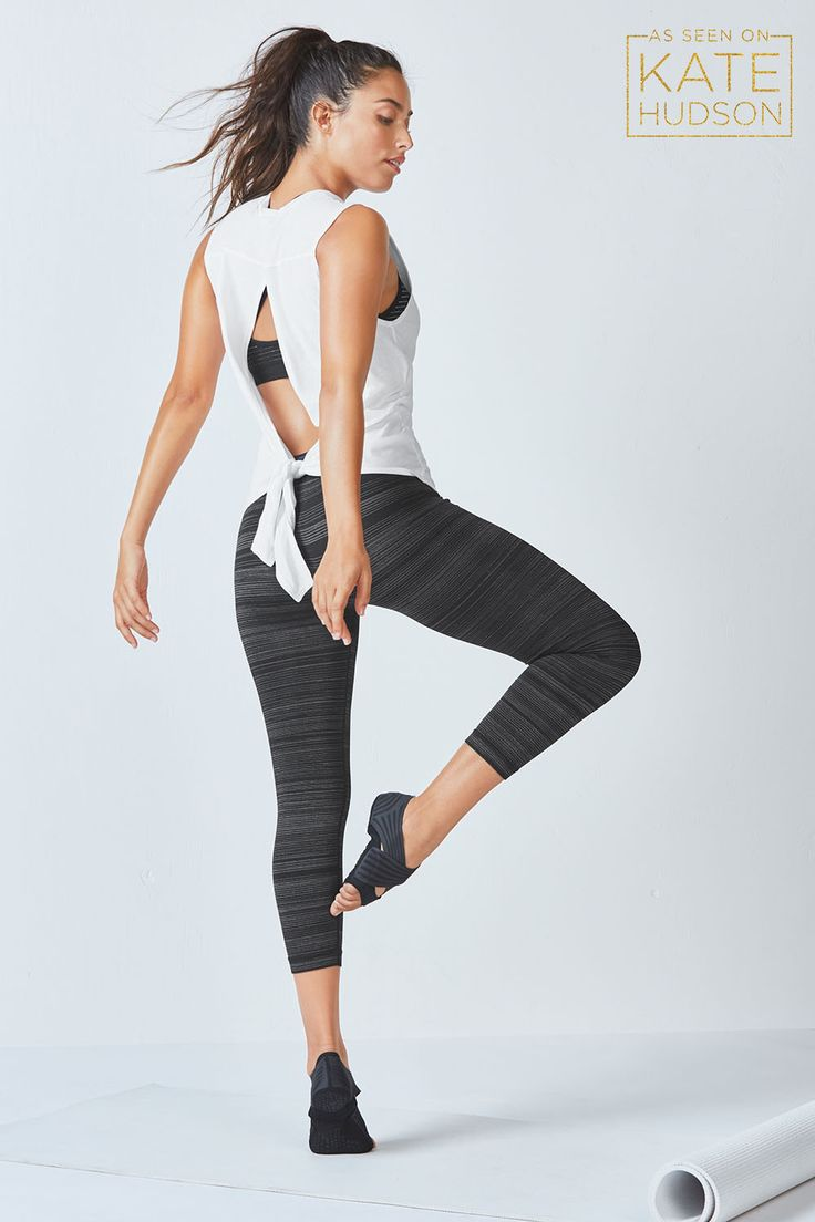 Take a break from the grind in our feel-good, open-back tank, second skin bra and move-easy, seamless tights. Shop @ FitnessApparelExpress.com