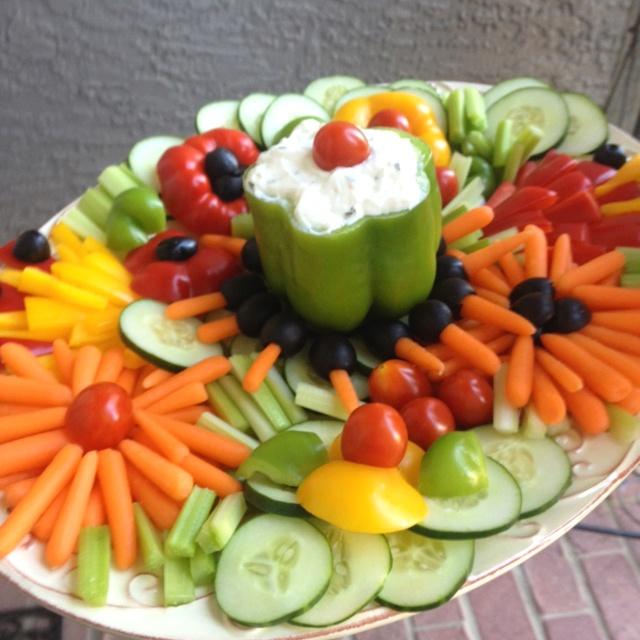 Fun with veggie tray. Yum!