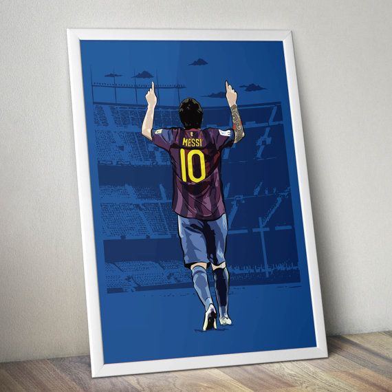 Lionel Messi Camp Nou Art Poster by KieranCarrollDesign on Etsy