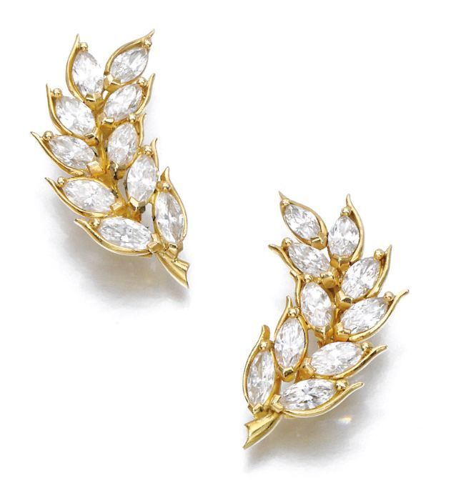 PAIR OF DIAMOND EARRINGS, THEO FENNELL - Sotheby's