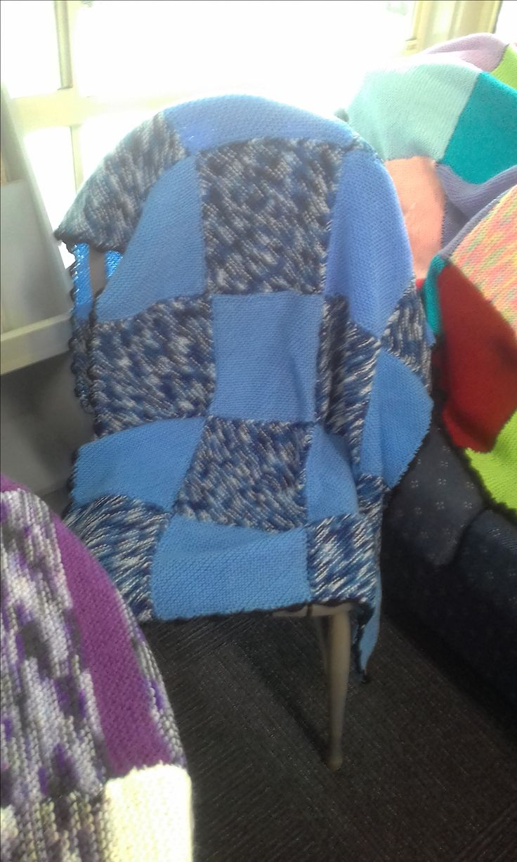 Wrap with Love - completed blanket. Produced by volunteers & job seekers. Ready for distribution to those who need it most. Image by job seekers.