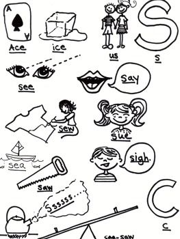 Articulation - /S/ - Syllable All Position - Coloring Page   Speech ...