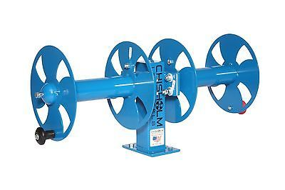 """10"""" BLUE Side By Side Heavy-Duty Welding Cable Lead Reel"""