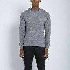 John Elliott + Co Fishtail Crew Sweatshirt in Dark Grey