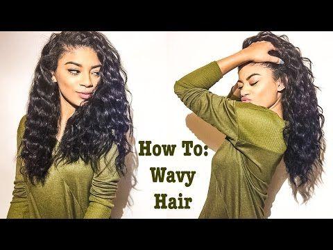 How To: Get Wavy Hair on Straightened Natural Hair | jasmeannnn - YouTube