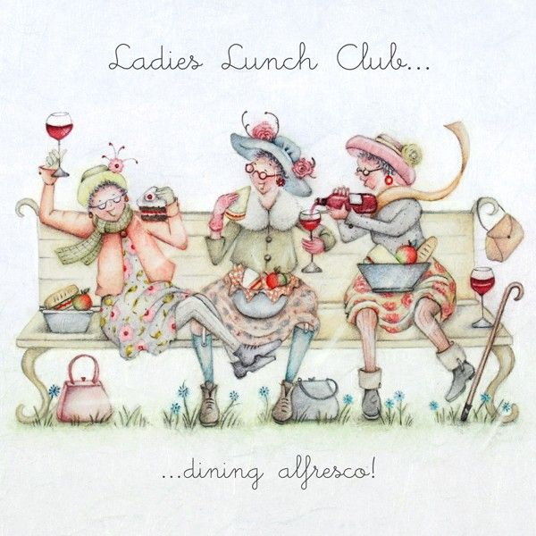 Cards » Ladies Lunch Club » Ladies Lunch Club - Berni Parker Designs