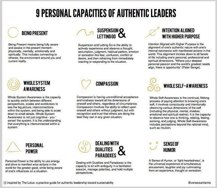 9 Personal Capacities of Authentic Leaders