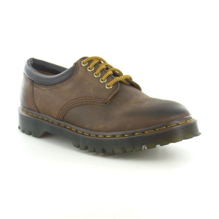 Dr Martens 8053 Mens Leather 5-Eyelet Shoes in Aztec Brown