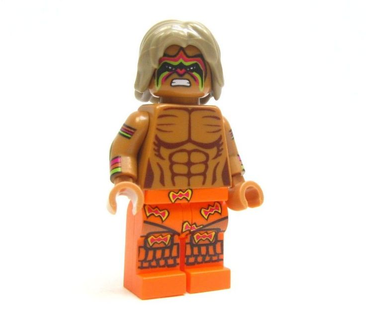 Lego custom WWE - - - - THE ULTIMATE WARRIOR - - - - - wrestler wwf Hulk #LEGO