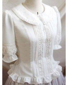 Vintage Pure White Lace Lolita Blouse