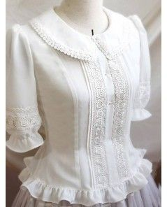 Vintage Pure White Lace Lolita Blouse