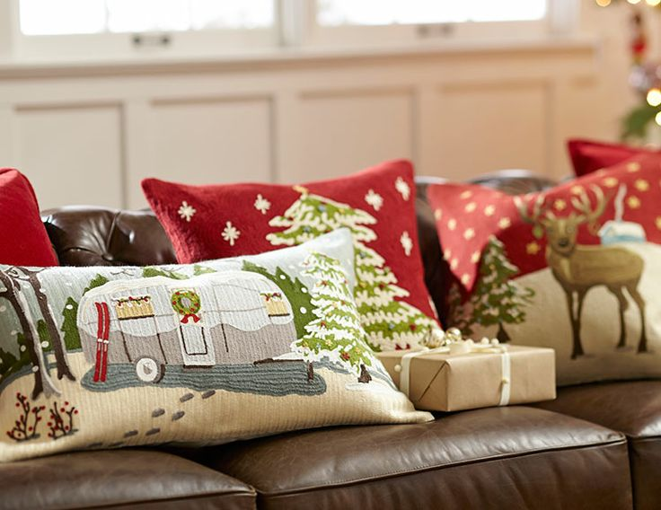 from pillows bed beyond throw buy porch red bath happy holidays outdoor square front in holiday christmas pillow