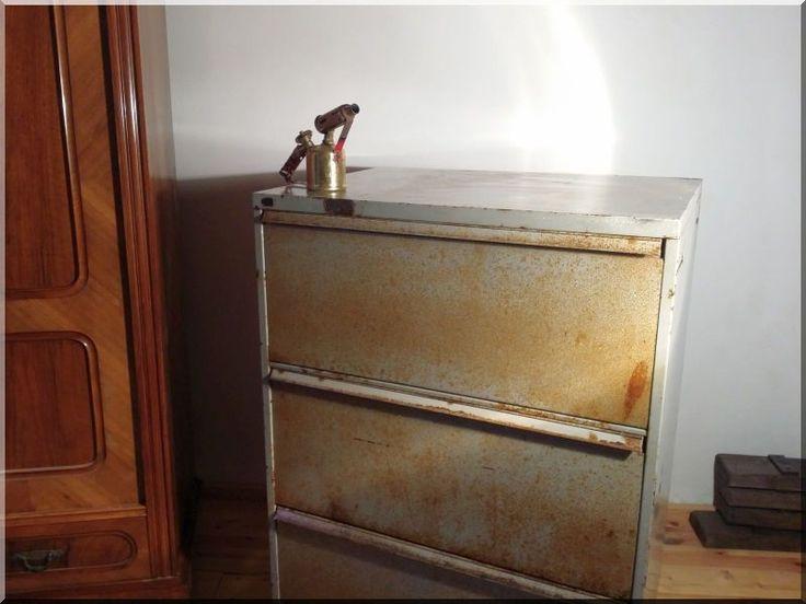 Industrial loft szekrény, lemezszekrény