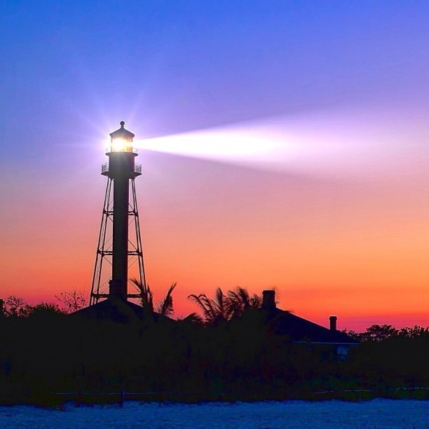 The beautiful Sanibel Island Lighthouse  in Florida right before sunrise   by @keithburros, Statigram