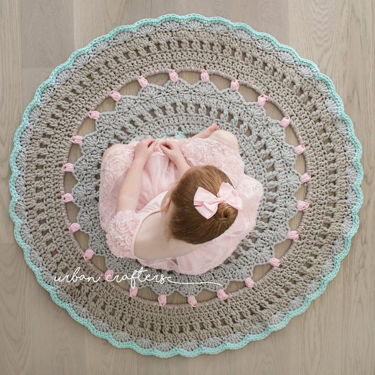 Crochet Rug Ida / Ida Heklet Teppe Doily Crochet Rug by Urban Crafters ZPAGETTI  yarn heklet gulvteppe