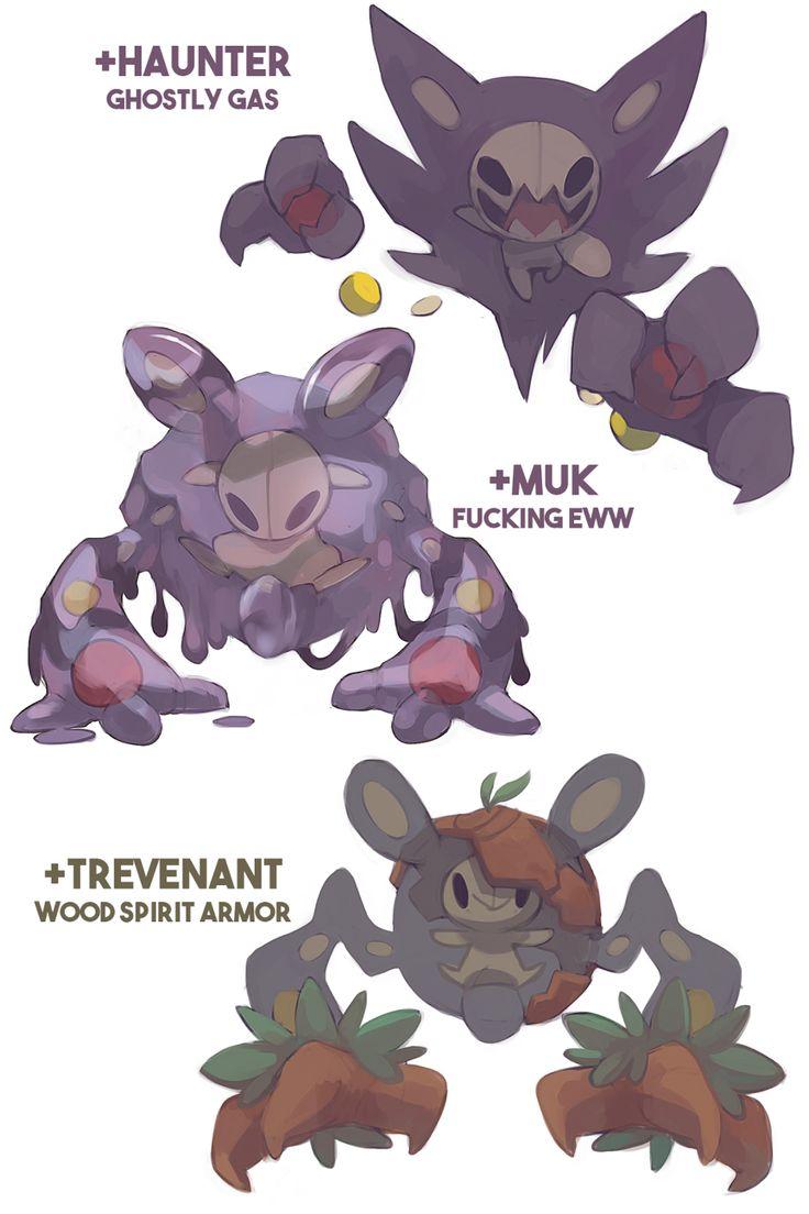 Pokemon crossbreed variations featuring my... - rad mangoes