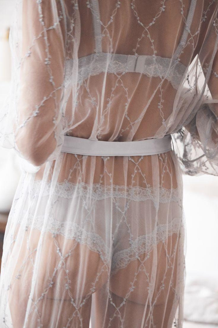 La Vie en Rose   Mesg Cheeky Panty + Lace Kimono