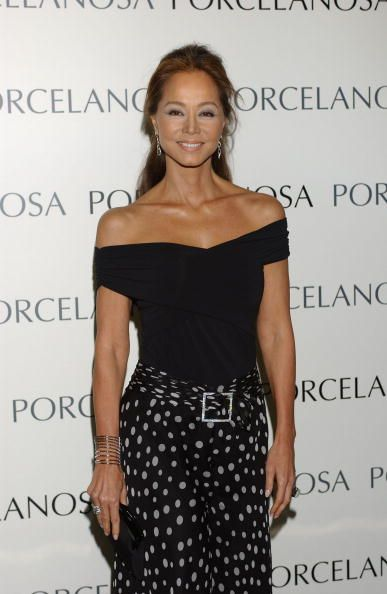 Isabel Preysler, presides the opening of the new 'Porcelanosa' Store on May 5, 2005 in Madrid, Spain