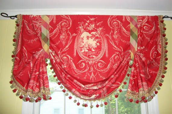 French country roman shades window treatments for Country style kitchen blinds