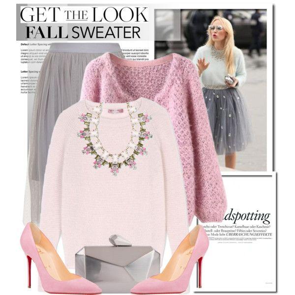 Fall Sweater Sparkle... by glamorous09 on Polyvore featuring мода, MaxMara, Christian Louboutin, Armitage Avenue, Natasha Accessories, Melissa and fallsweater