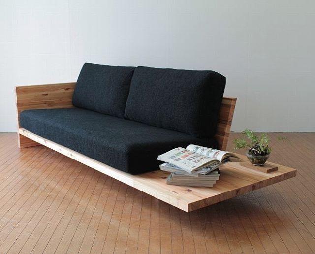 """Gefällt 562 Mal, 11 Kommentare - Patter (@_patter) auf Instagram: """"Cedar wood, floating floor sofa via #connect #japan — #interiorinspiration"""""""