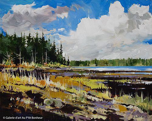 Allan Dunfield, 'Clouds on the Coast', 16'' x 20'' | Galerie d'art - Au P'tit Bonheur - Art Gallery