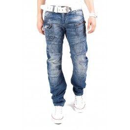 Cipo & Baxx dżinsy Zipper i C-0913 Niebieski - Only €49.95 1S1H