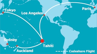 Air Tahiti Nui is the easiest way to get to French Polynesia, no matter where you're coming from - have a look for yourself!