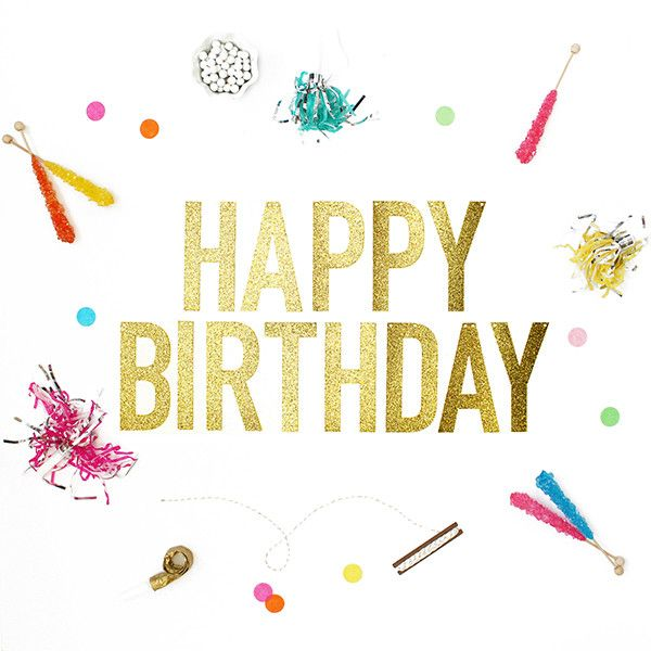 Add some sparkle and shine to your next get together with our Glitter Happy Birthday Banner. - Gold in Color - Comes with Gold Baker's Twine for Hanging - Letters Measure 5.5 Inches Tall - Banner is 4