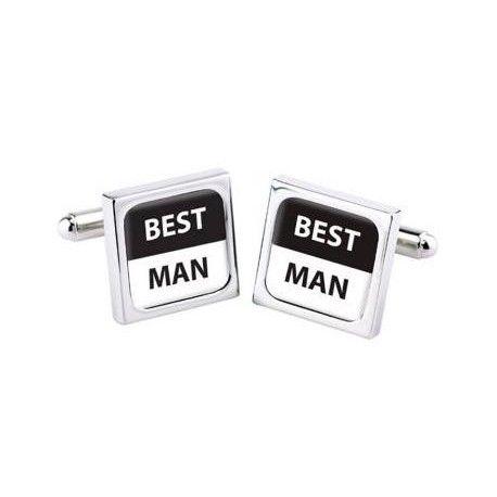 """Manchetknopen Bliss """"BEST MAN"""" Deze prachtig manchetknopen speciaal ontworpen voor de mooiste dag in je leven."""