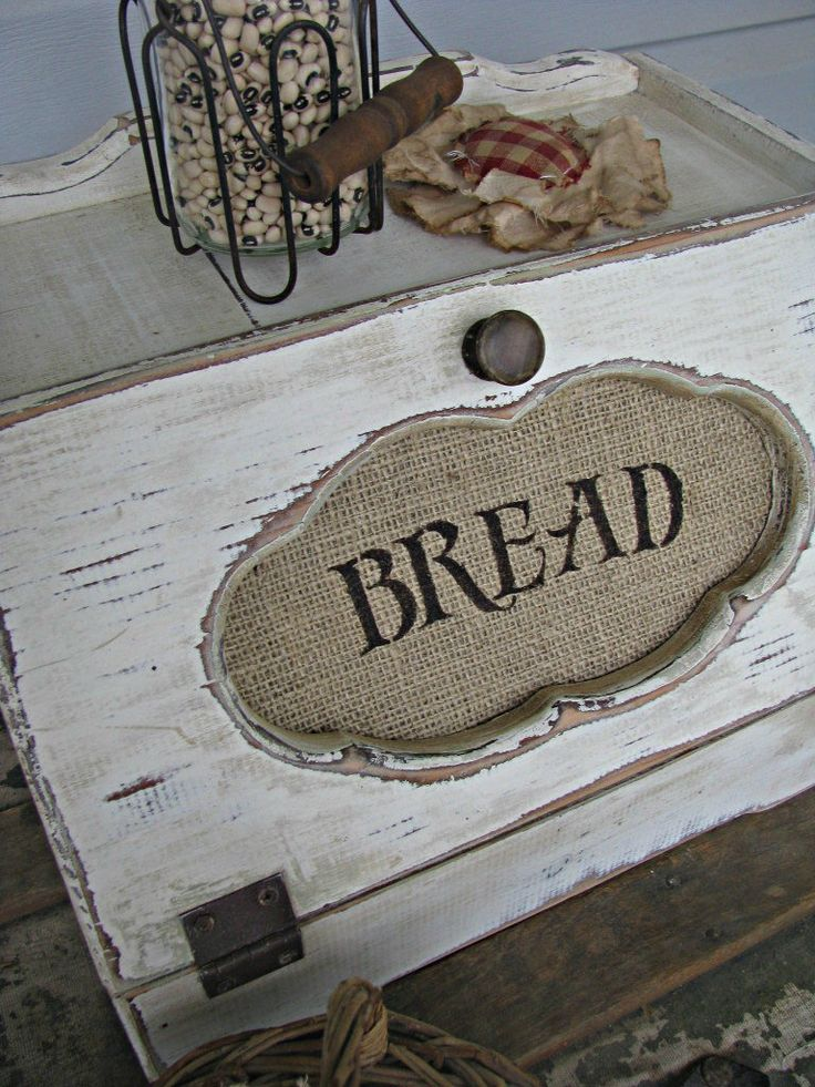 primitive diy crafts | Primitive Breadbox with Burlap insert | DIY & Crafts