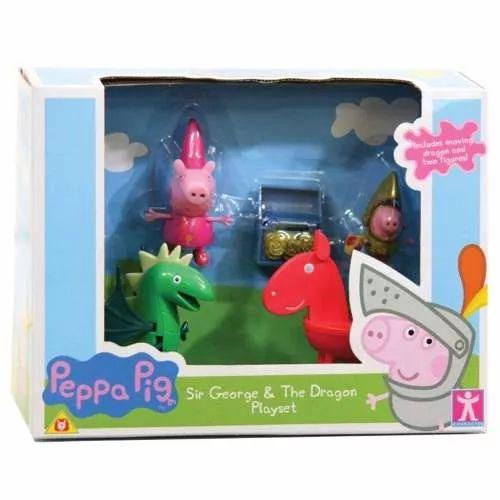 Peppa Pig Sir George Y El Dragon Playset  - $ 1.049,99