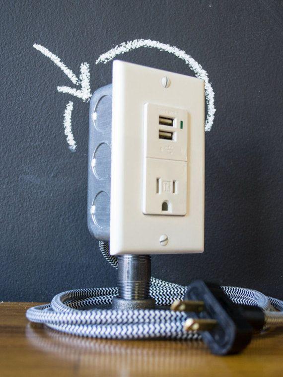 Industrial Desk USB Charging Station von joeshop12 auf Etsy