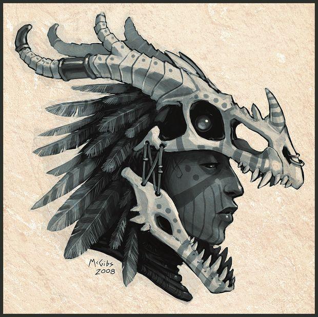 How to make a Dragon Skull mask/ head dress