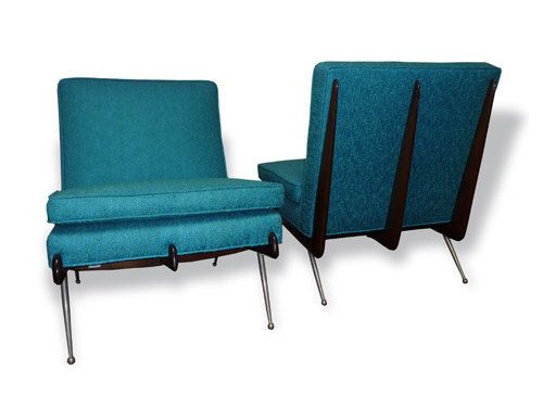 SALE 20% OFF Pair of Mid-Century Modern Blue Chairs or Edward Wormley Style Blue Sofa 1950s by XcapeVintage on Etsy https://www.etsy.com/listing/252312261/sale-20-off-pair-of-mid-century-modern