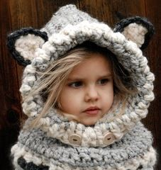 Woodlynn Wolf Cowl Crochet Pattern by Artist Heidi May from The Velvet Acorn
