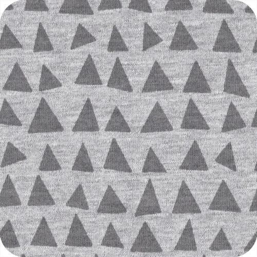 Jersey triangles - gris chiné