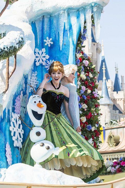 frozen Disney Festival of Fantasy Parade
