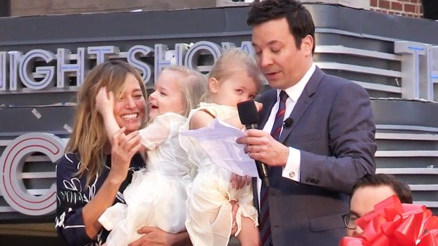 Jimmy Fallons Daughters Adorably Steal the Show at His Ride Unveiling