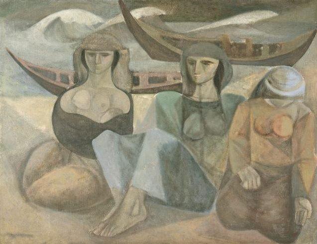 Mulheres na Praia, 1950