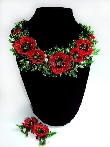 Bead poppies