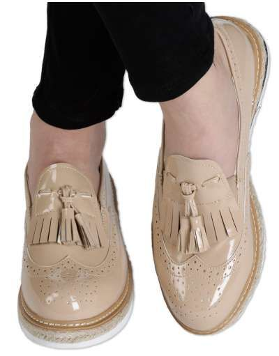 ΝΕΕΣ ΑΦΙΞΕΙΣ :: Flatform Oxfords Love & Leatherish Beige - OEM