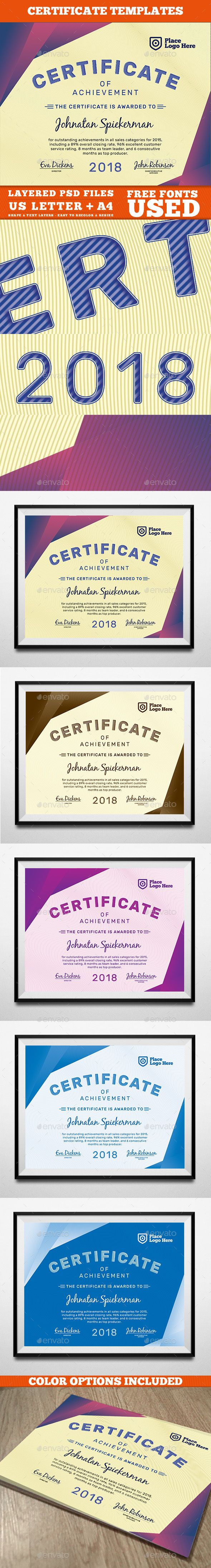 #Certificate Template - Certificates #Stationery