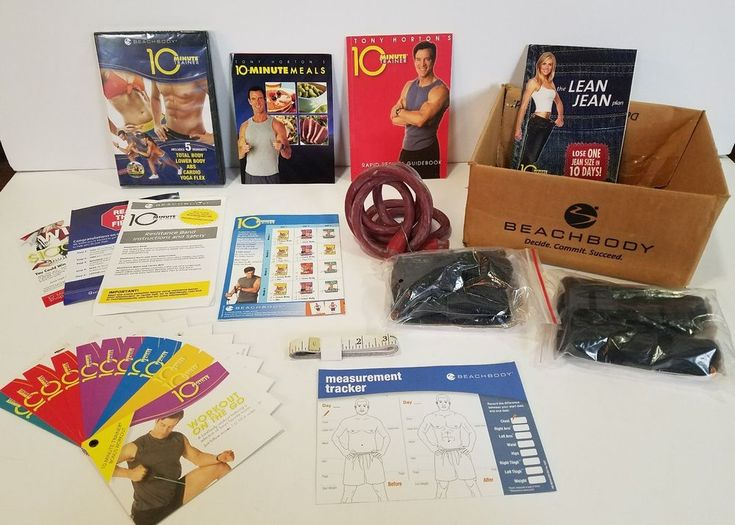 Tony Horton BeachBody 10 MINUTE TRAINER Complete Kit~ Bonus Power 90 Fat Burning #Beachbody