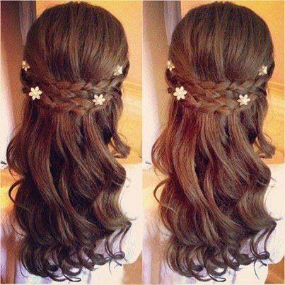 Simple hairdo