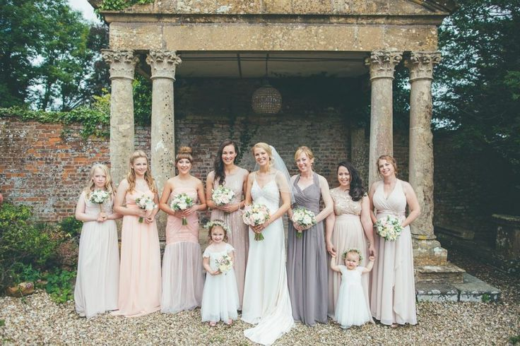 Ritva Westenius Gatsby Gown | Neutral Bridesmaid Dresses | Elegant Country Wedding  | Matt Willis Photography | http://www.rockmywedding.co.uk/anne-rob/