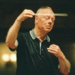 My favourite conductor, Maestro Bernard Haitink, in inspired mode as always on the podium ...