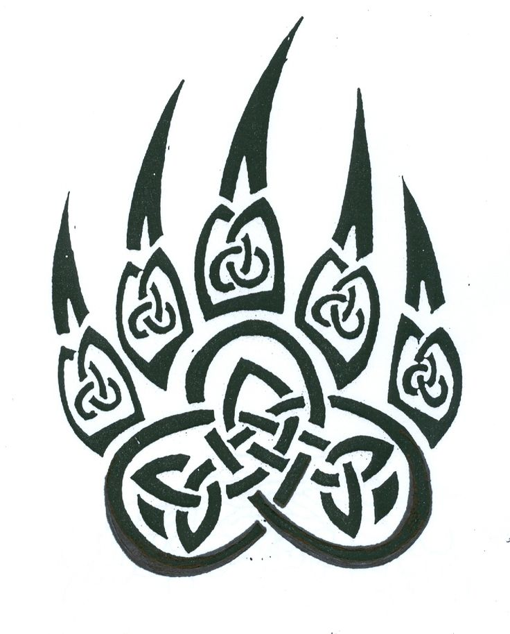 Celtic knot paw print | Tattoos | Pinterest | Celtic knots ...