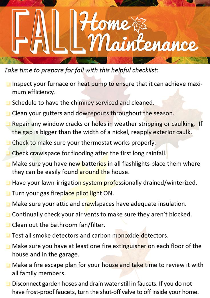 Fall Home Maintenance Tips Windermere Real Estate