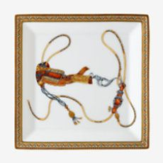 Cheval d'Orient square plate - P009843P